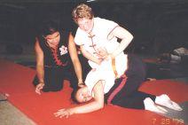 Sifu Jason Wong teaching another ground fighting technique
