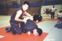 Sifu Jason Wong demonstrating a ground fighting technique