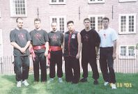 Sifu Jason Wong with the Hungarian instructors in Amsterdam